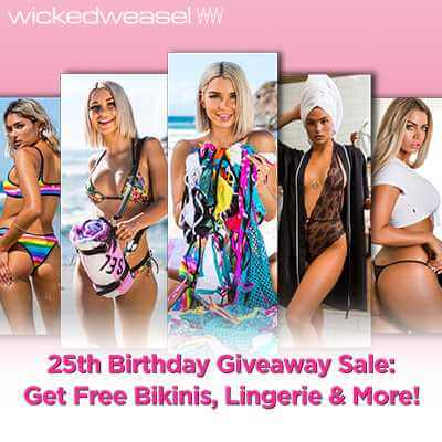 25th Birthday Giveaway Sale: Free Bikinis, Lingerie & More